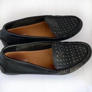 COACH Orlene Black Studded Loafers size 6.5B